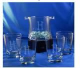 Personalized Set Of Five Capri Ice Bucket Set