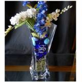 "Personalized 10"" Crystal Flared Vase  . . ."