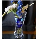"Personalized 10"" Crystal Flared Vase  . . ."