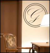 Timeless And Modern Initial Monogram Wall  . . .
