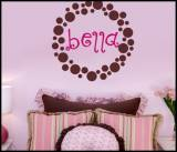 Monogram Inside The Dots Wall Decal