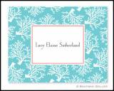 Boatman Geller Coral Teal Personalized Notes
