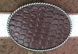 Loopty Loo Brown Croc Belt Buckle
