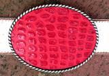 Loopty Loo Red Croc Belt Buckle