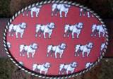 Loopty Loo Bulldogs Print Belt Buckle