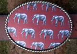 Loopty Loo Elephants Print Belt Buckle