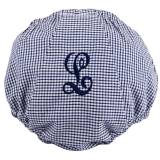 Monogrammed Diaper Cover In Navy Gingham