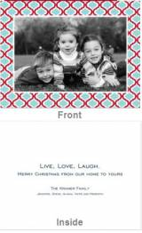Kate Red And Teal Folded Photo Card