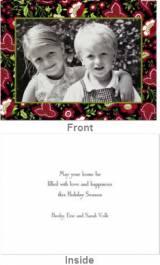 Festive Floral Folded Photocard