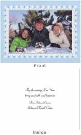 Border Light Blue Folded Photocard