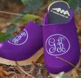 Aqua Empire 2-Letter On Lilac Wool Upper