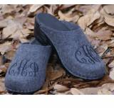 Anthoricite Wool Clogs Done In Black  . . .