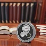Monogrammed Desk Clock Round Modern Style