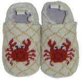 By Paige Needlepoint Crab Baby Booties