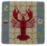 Set Of Four Lobster Needlepoint Coasters