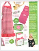 Womans World Jan 2012 Monogrammed Scarfs  . . .