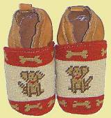 Needlepoint Baby Booties Puppies