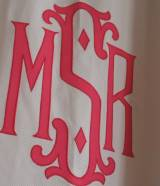 Matouk Monogrammed Shower Curtain