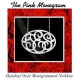 Oval Monogram Necklace