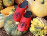 Monogrammed Red Wool Clogs With Sydney  . . .