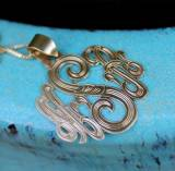 Monogrammed Necklace With Hand Engraved  . . .