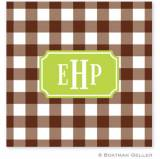 Personalized Coasters In Classic Check