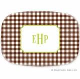 Personalized Classic Check Platter Design  . . .