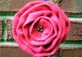 Loopty Loo Red Pepper Burlap Flower Buckle