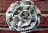 Loopty Loo Natural Burlap Flower Buckle