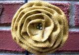 Loopty Loo Saffron Burlap Flower Buckle