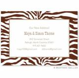 Boatman Geller Personalized Zebra Invitation