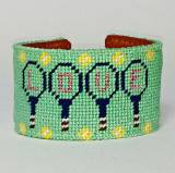 Tennis Love Needlepoint Cuff