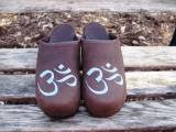 Brown Nubuck With Ohm In Light Blue- Yoga  . . .