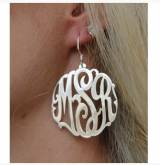 Monogrammed Script Earrings On French Wires