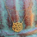 Monogrammed Necklace With Double Chain  . . .