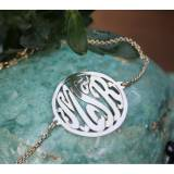 Monogrammed Script With Border Rollo Chain  . . .