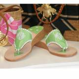 Monogrammed Palm Beach Sandal In A 1 Inch  . . .