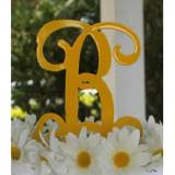Metal Single Letter Monogram Cake Topper  . . .
