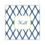 Personalized Coasters Bamboo Navy & Green