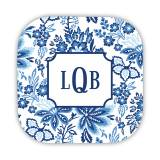 Personalized Coasters Classic Floral Blue