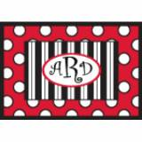 Personalized Red Black And White Stripes  . . .