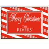 Personalized Candy Cane Door Mat With Red  . . .