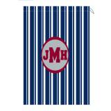 Monogram Laundry Bag With Navy And White  . . .