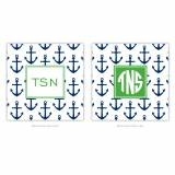 Coasters In Anchors Navy Pattern