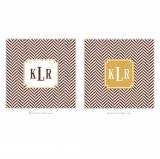 Personalized Coasters Herringbone Chocolate