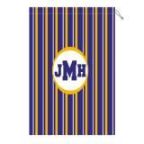 Monogram Laundry Bag With LSU Purple White  . . .