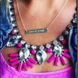 Monogrammed Bar Necklace