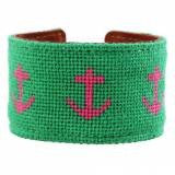 Big Anchors Needlepoint Cuff