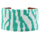 Jungle Love Turquoise Needlepoint Cuff