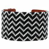 Black And White Chevron Needlepoint Cuff